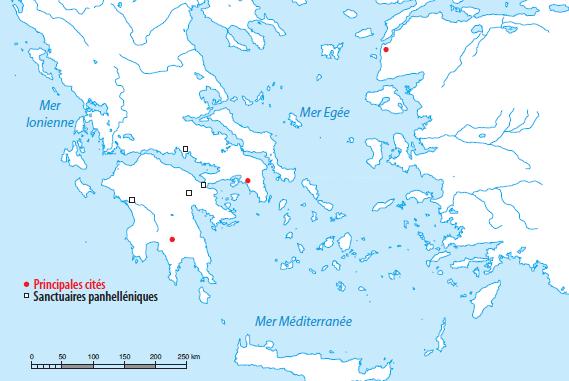 carte grèce antique vierge Plan d'études romand   Ressource